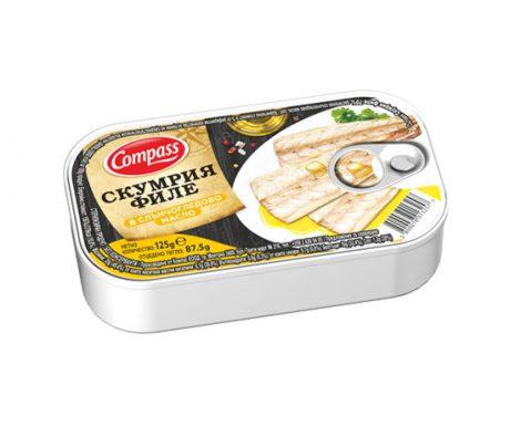 Compass-Mackerel-fillet-in-sunflower-oil-Скумрия-в-слънчогледово-олио-125g-550x475
