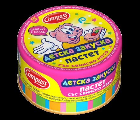 Compass-Детска-закуска-пастет-със-свинско-месо-100g