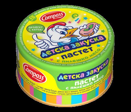 Compass-Детска-закуска-пастет-с-пилешко-месо-100g